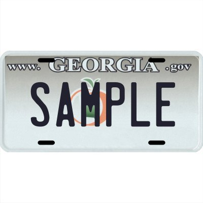 Your Name Your State Custom Metal License Plate - Choose from all 50 States (Georgia, 6