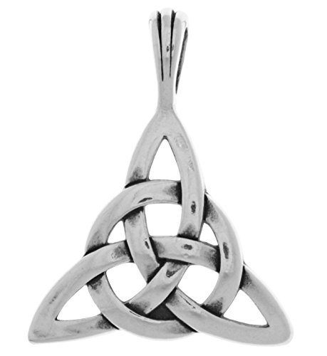 - Jewelry Trends Sterling Silver Circle of Life Triquetra Celtic Knot Pendant