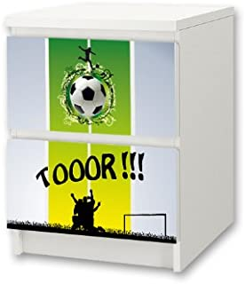 Football furniture sticker | NS13 | matching to the chest of drawers with 2 drawers MALM by IKEA | Furniture Not Included | STIKKIPIX