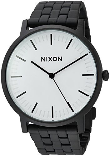 Nixon Men's 'Porter' Quartz Metal and Stainless Steel Watch, Color:Black (Model: A10572493-00)
