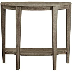 Monarch Specialties Dark Taupe Reclaimed-Look Console Accent Table, 36-Inch
