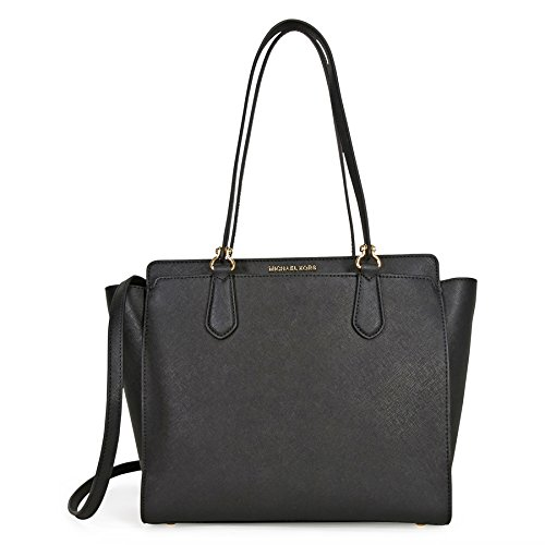 Michael Michael Kors Dee Dee Large Leather Tote, Black by MICHAEL Michael Kors