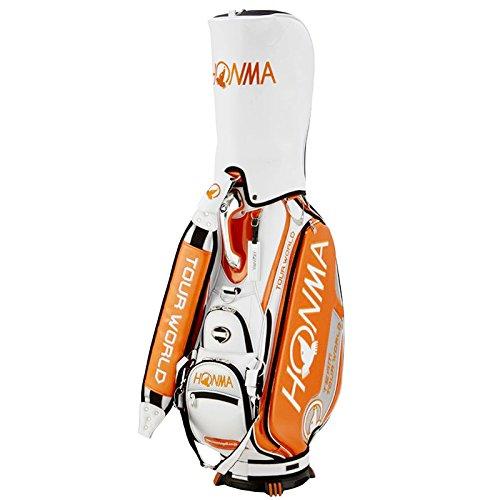 本間ゴルフ キャディーバッグ TOUR WORLD CB-1801 メンズ オレンジ