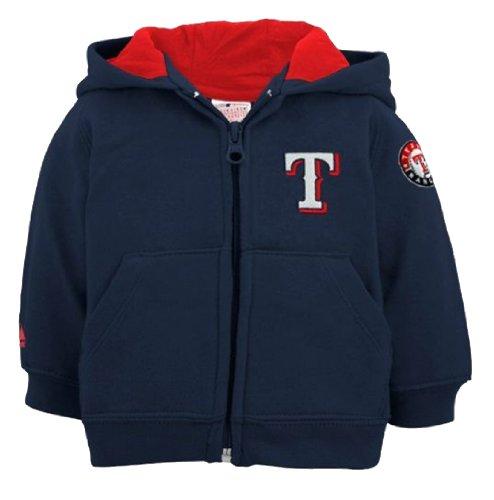 Authentic MLB Texas Rangers Infants Full Zip Hooded Fleece Top