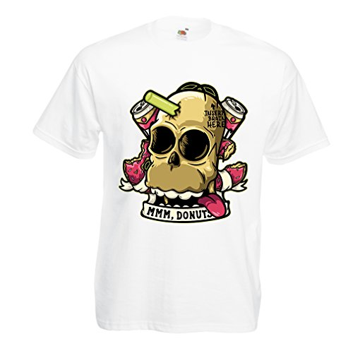 lepni.me N4413 T Shirts for Men Insert Brain Here (Small White Multi Color)