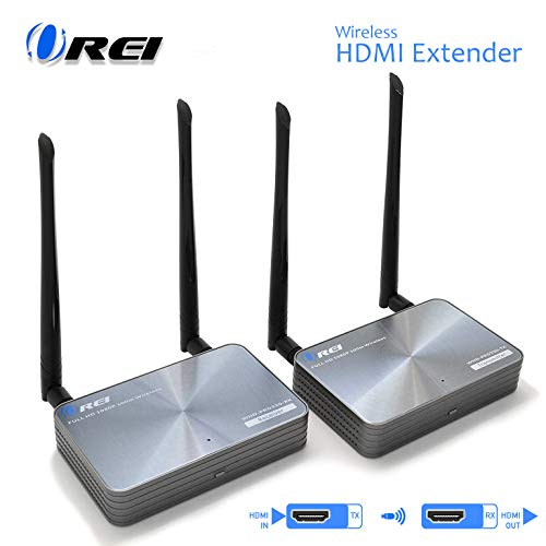165 Ft Wireless HDMI Transmitter & Receiver, by OREI - Extender Full HD 1080p Perfect for Streaming from Laptop, PC, Cable, Netflix, YouTube, PS4 to HDTV/Projector - IR Support