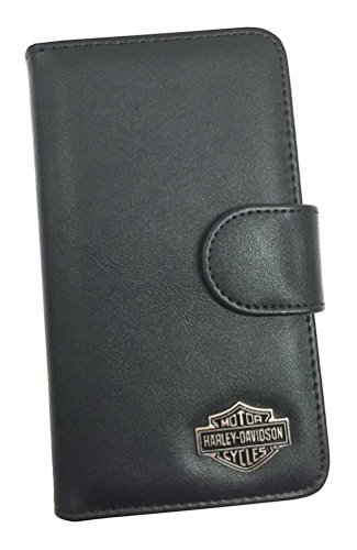 Harley Davidson Telephone - Harley-Davidson Universal Phone Case XL Folio, Bar & Shield Emblem, Black 07753