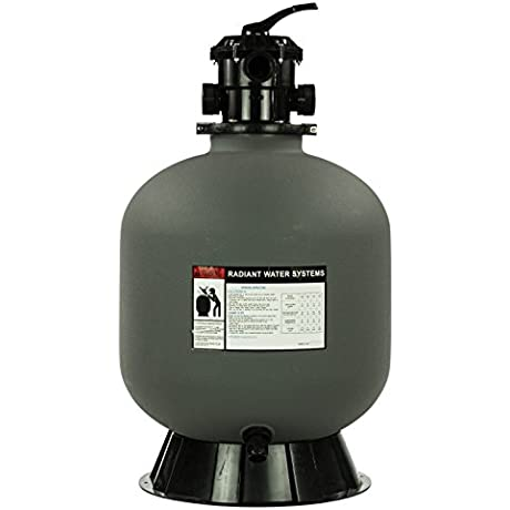 Rx Clear Radiant 24 Inch Inground Swimming Pool Sand Filter W 6 Way Valve