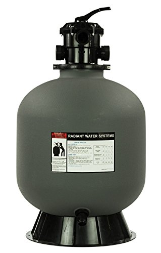 Rx Clear Radiant Sand Filter System | for In-Ground Swimming Pools Up to 33,000 Gallons | 24 Inch | 1 HP Mighty Niagara Pump | 6-Way Top Mount Filter Valve