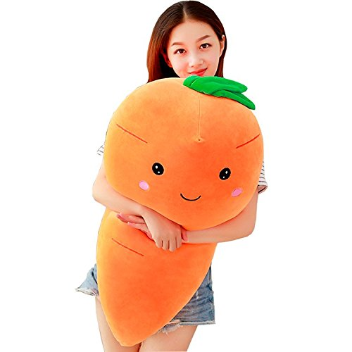 TOPJIN Lovely Plush PP Stuffed Vegetable Carrot Toys Throw Pillow for Kids Adults Gift 55cm/21.6
