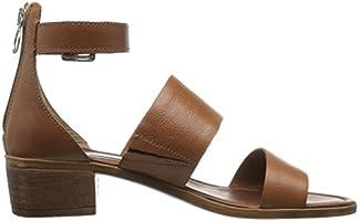 3abe99e681b Steve Madden Women's Daly Dress Sandal, Cognac Leather, 6 M US ...