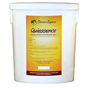 Quiessence Foxden Equine 14 lb Banana Flavored Magnesium Pellets Founder Calming Sore Muscle Supplement 1