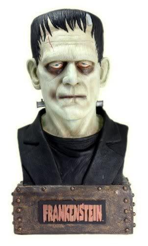 (Boris Karloff as Frankenstein Bust Coin Bank )