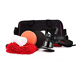 Presa Turbine All-in-One Dual Action DA Random Orbital Polisher Kit with Polishing Pads and Chenille Glove, 6""