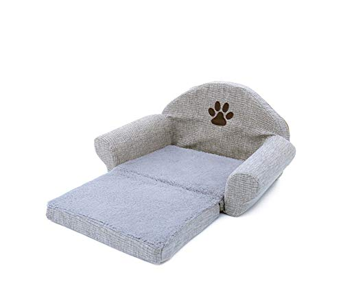 Pet Removable Dog Bed Four Seasons Gray Dog Sofa Dog Cat House Washable Pet Cushion for Pet Bed Animals Pet Products,Gray,Free ()