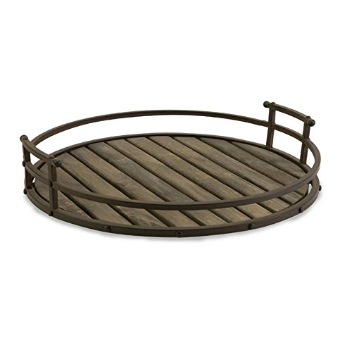 Imax Corporation Vermont Iron and Wood Tray from Imax