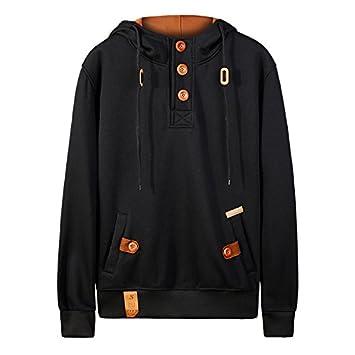 NZSYZXYD Jacket Nuevo Suéter Hombres Color Puro Sudadera con Capucha con Capucha College Breeze Estilo Traje Térmico con Capucha, Negro, XXL: Amazon.es: ...