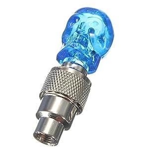 SODIAL(R) LED light valve cap spoke light for bicycle Auto Bike rim tire blue
