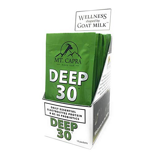 MT. CAPRA SINCE 1928 DEEP-30 | Meal Replacement Shake, Goat Protein Powder With Grass Fed Whey Protein and Casein Protein, Minerals and BC-30 Probiotics, Coconut Dream Flavor - 10 - Mineral Powder Whey Capra Mt