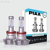 PIAA 26-17309 H9 Platinum LED Bulb Kit-4000Lm, White 6000K, 25W-2 Yr Warranty