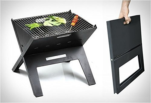 Protetto Handy Compact Barbeque Charcoal Portable Grill