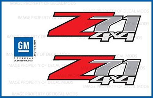 Decal Mods GMC Sierra Z71 4x4 Decals Stickers - F (2007-2013) Bed Side 1500 2500 HD (Set of 2) [Officially Licensed, Made in The USA, Brand