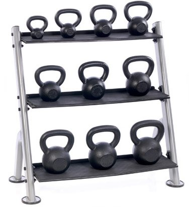 Hampton 3-Tier Horizontal Kettlebell Rack by Ironcompany.com
