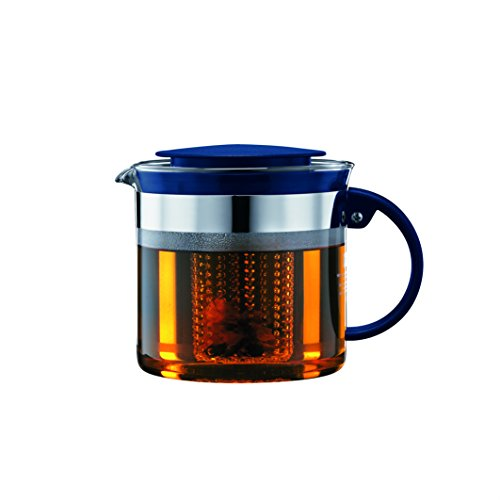 Bodum 1875-981B-Y18 Tea Pot, 1.0 L/34 oz, Sea ()