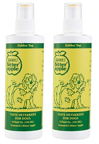 Grannick Bitter Apple with Dabber Top for Dogs 8ounce(2 Pack)