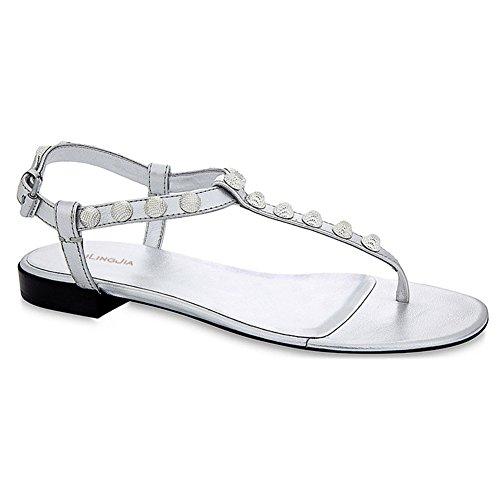Verano Al Eu41 Chanclas Libre Ocio uk8 Zpl Aire Zapatos De Playa Mujer Planos Peep toe Bohemia uk7 Señora eu40 Sandalias CUxfO7qwx