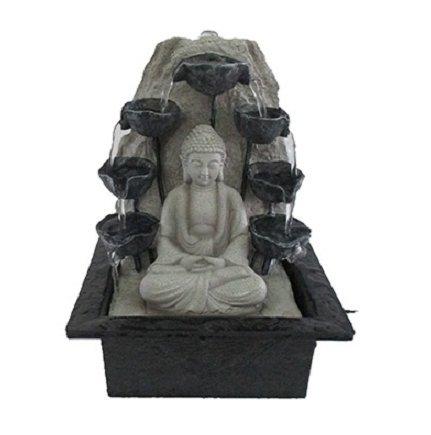 BUDDHA WITH WATER CUPS INDOOR WATER - Buddha Water Fountain