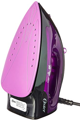 Violet Iron - Oster GCSTBS4801V-053 Black/Violet 1200-Watt Variable Steam Iron, 220 Volts (Not for USA - European Cord)