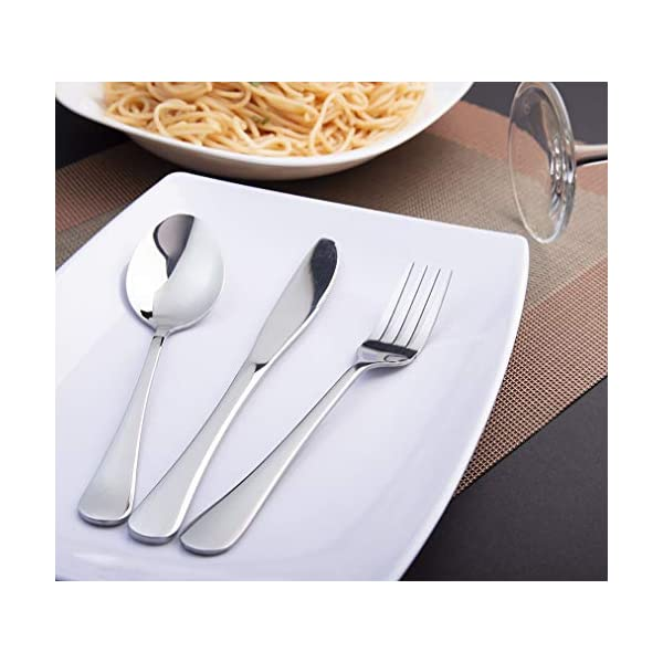 EvaCrocK Travel Utensils | 9-Piece Portable Camping Silverware Set Including Knife Fork Spoons Straws Chopsticks… 3