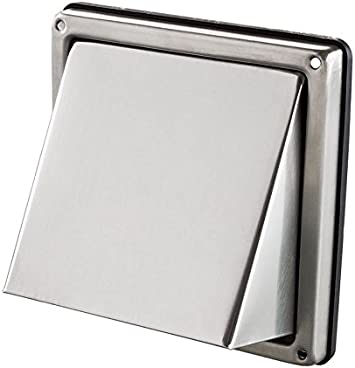 Intelmann V2A - Rejilla rectangular con protección contra la intemperie, 100, 125, 150 mm, de acero inoxidable: Amazon.es: Bricolaje y herramientas