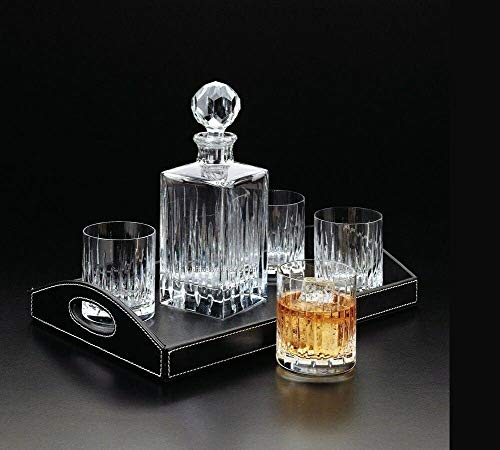 Double Old Fashioned Crystal Glasses, Set of 6, Perfect for serving scotch, whiskey or mixed drinks. (New York) pattern by Le'raze (Image #3)