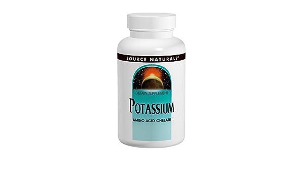 Source Naturals - Potassium Chelate 99mg Elemental - 100 ...