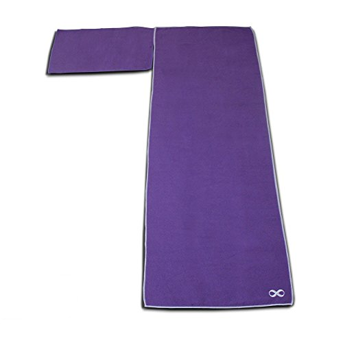 Yogaaddict Yoga Mat Towel And Hand Towel Combo Set: YogaAddict Yoga Mat Towel & Hand Towel Combo Set 100
