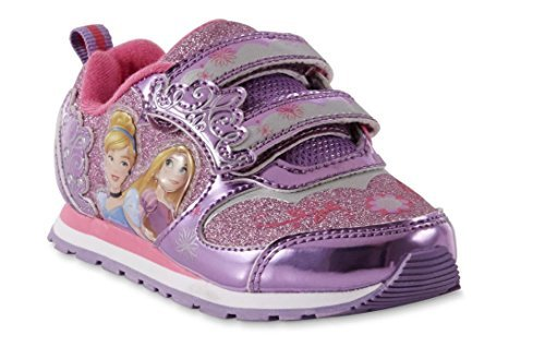 and Up Princess Purple Girls Disney Toddler Light Sneakers Pink qTq7I