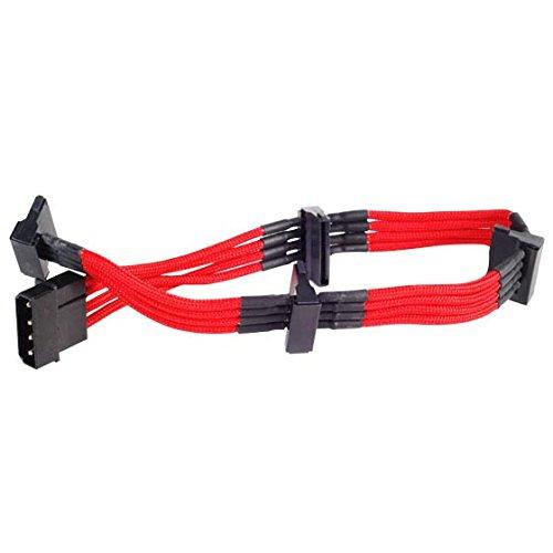 [해외]SilverStone 만들어진 PSU 일반 연장 슬리브 모듈러 케이블 SST-PP07-BTSR (레드) / SilverStone-made PSU Universal extension Sleeve Modular cable SST-PP07-BTSR (red)