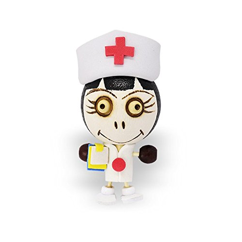 Crazy Head Magnet - Nurse - Novelty Fridge Magnet Graduation / New Job Gift from (Cheap Save The Date Magnets)
