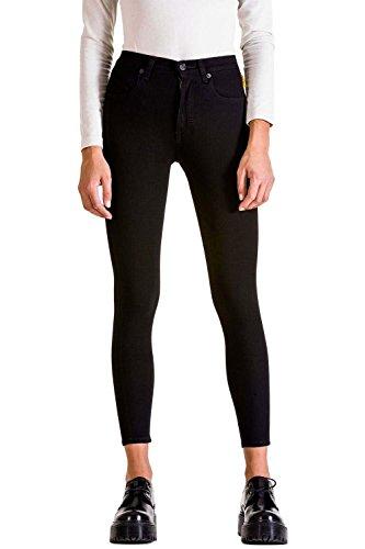 Black Cintura Alta Con D0126 Jeans Ajuste Capri Denim Estilo Mujer 5 Meltin'pot Bolsillos Para Ceñido Mires rw000 v4nnAUa