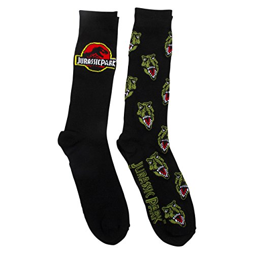 Jurassic Park Mens and Big Boys 2 Pk (2 Pair) LogoCrew Socks -