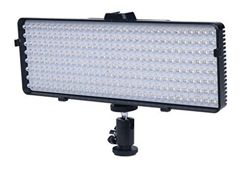256 LED Video Light For Panasonic Lumix DMC-G1 DMC-G2, DMC-G3, DMC-G10, DMC-G6K, DMC-GF1, DMC-GF2, DMC-GF3K, DMC-GF5K, DMC-GF6K, DMC-GH1, DMC-GH2, DMC-GH3K, DMC-GH4, DMC-GM1K, DMC-GM5K, DMC-GX1, DMC-GX7 Digital SLR Camera