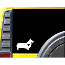 Corgi Little HeartJ627 6 inch Sticker dog decal pembroke