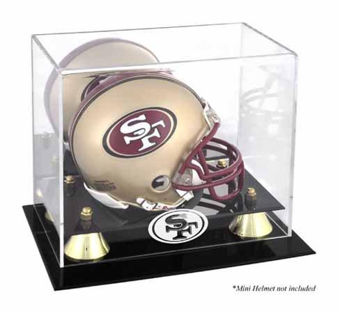 Mounted Memories San Francisco 49ers Mini Helmet Display Case ()