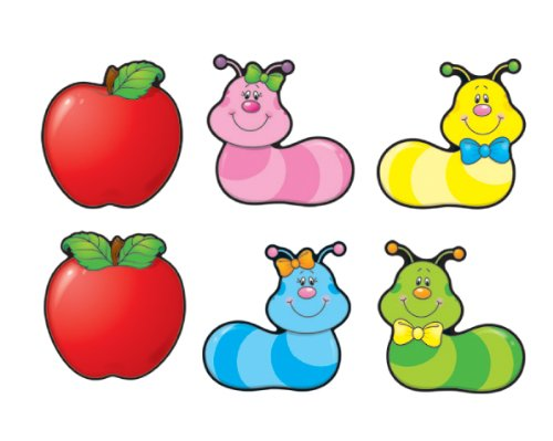 Apples & Worms Cut-Outs ()