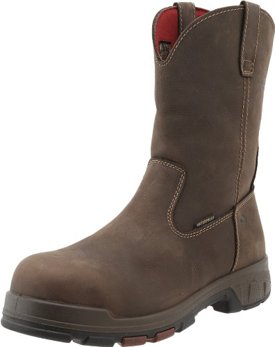 Wolverine Men's Cabor Waterproof Wellington Work Boot,Dark Brown,13 XW US