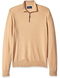 Men's 100% Premium Cashmere Quarter-Zip Sweater