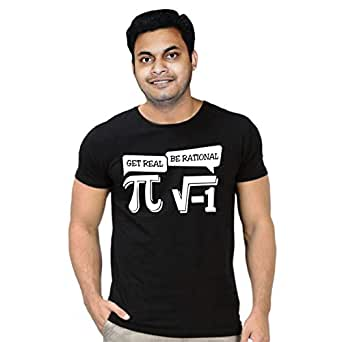 FMstyles Get Real Be Rational - Math Black Unisex Tshirt - FMS304