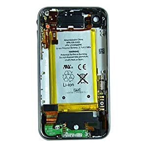 Back Housing Cover with Battery,Charging Port Flex Cable and Audio Plug Etc for iPhone 3GS (16GB,Assorted Colors) , White